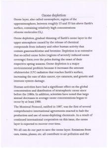 Victoria Velkova - Ozone depletion